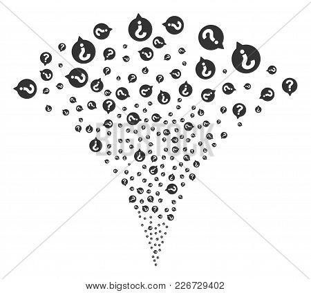 Help Balloon Exploding Fountain. Vector Illustration Style Is Flat Iconic Symbols. Object Fountain M