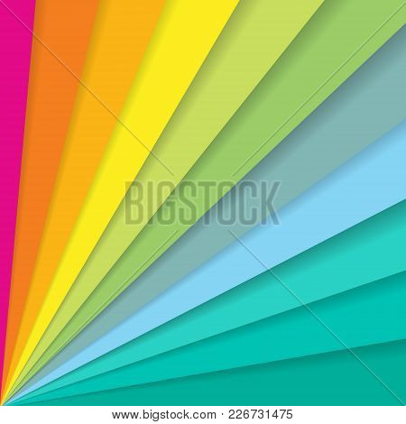 Abstract Colorful Striped Diagonal Lines Pattern Element Speed Motion On White Background With Copy