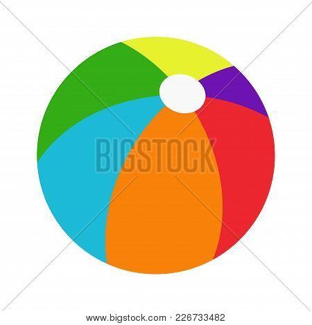 Color Beachball Vector Illustration Icon. Rainbow Colored