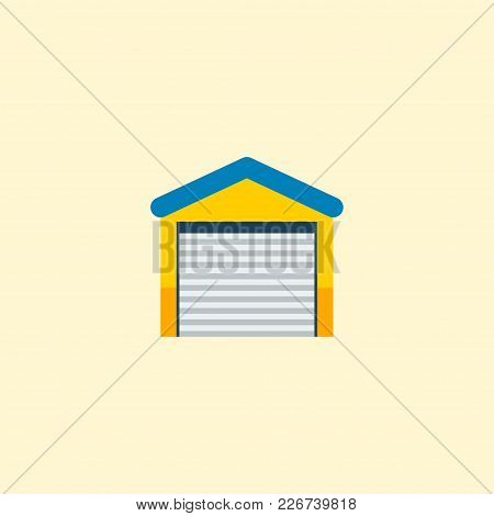 Garage Icon Flat Element. Vector Illustration Of Garage Icon Flat Isolated On Clean Background For Y