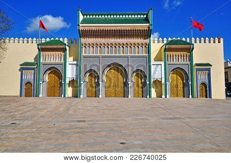 Ancient Architecture Of Royal Palace, Fes, Morocco