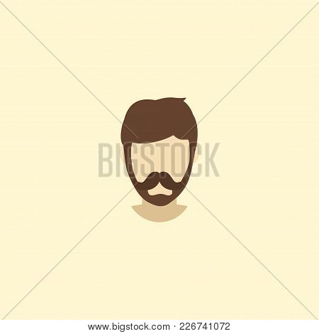 Fashionable Beard Icon Flat Element. Vector Illustration Of Fashionable Beard Icon Flat Isolated On