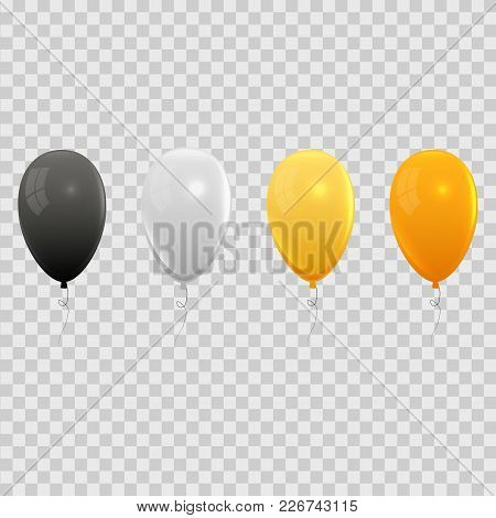 Realistic Air Balloons Set