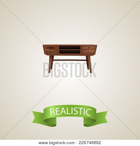 Commode Realistic Element.  Illustration Of Commode Realistic Isolated On Clean Background For Your