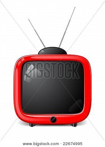 Stylish vector TV
