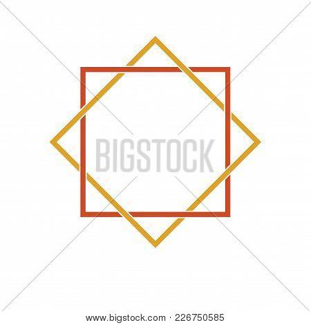 Vector Symbol: Modern Variant Of Devi Sri Lakshmi Star. The Star Of Lakshmi Is Used In Hinduism To S