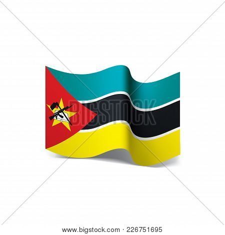 Mozambique Flag, Vector Illustration On A White Background