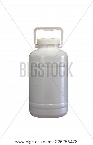 Plastic Bin For Food On A White Background To Mean An Industrial Concept