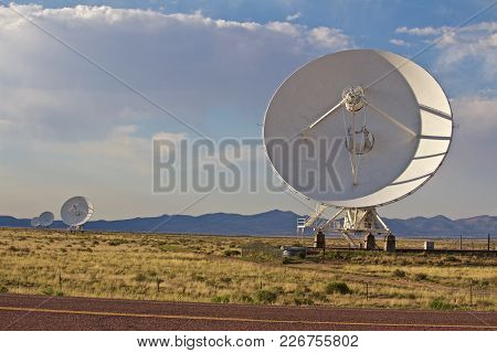 Four Of The Very Large Array Dishes, Satellite Dish