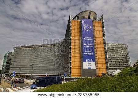 The European Commission Building In Brussels, Belgium, 06.26.2016. Editorial Use Only. Beautiful, Ma