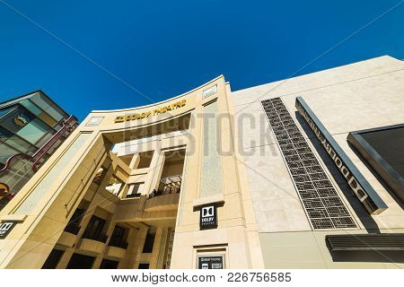 Los Angeles, Ca, Usa - November 02, 2016: Dolby Theater In Hollywood Boulevard