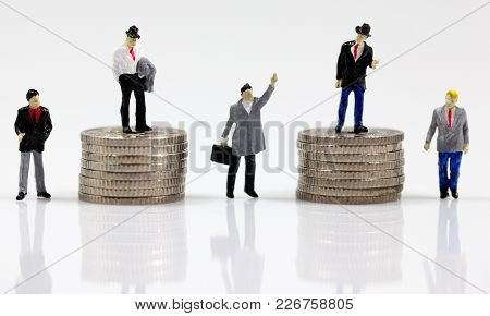 First, Second, Third, Forth And Fifth Place Business Men, Money Makers