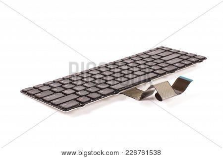 Laptop Keyboard Replacement Isolated On The White Background