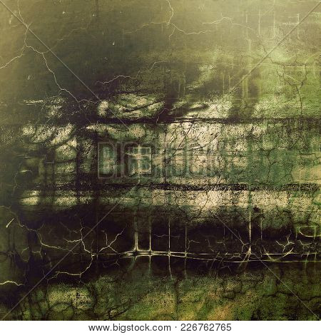 Old-style dirty background with textured vintage elements and different color patterns