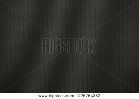 Black Colored Corrugated Cardboard Texture Useful As A Background