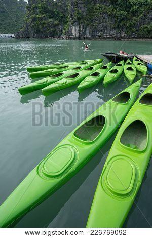 Kayaks For Rent In Halong Bay, Vietnam