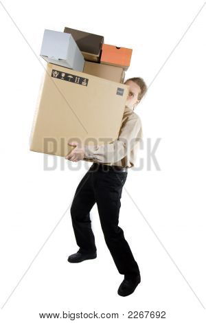 Man With Boxes