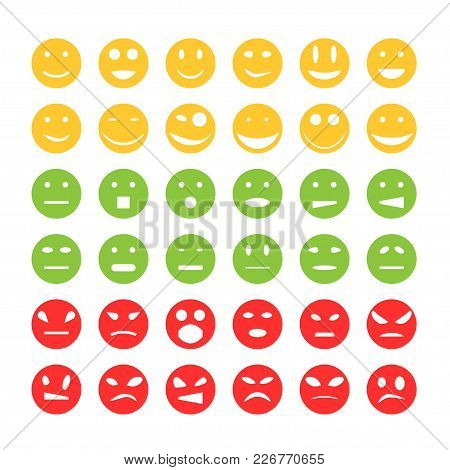 Smiley Emoticon Icons. Happy And Sad Emoticon Smiley Face Icons
