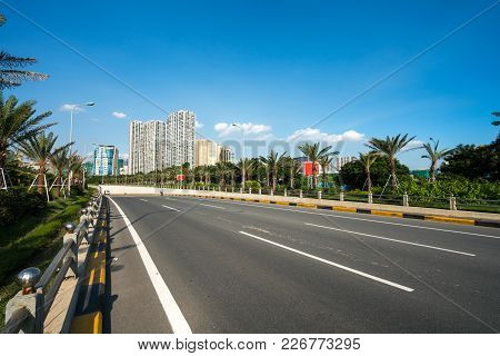 Road And Buildings At Hanoi City, Thang Long Highway