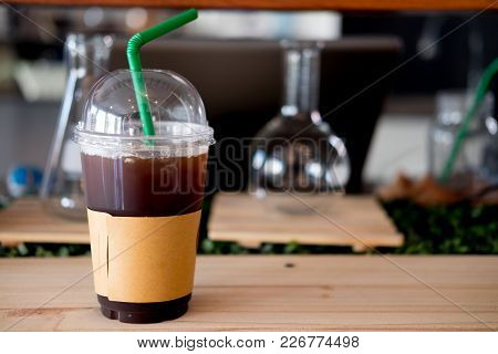 Iced Black Coffee Low Fat Good Caffeine Source For Health