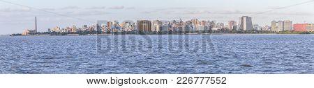 Panorama And Cityview With Gasometro And Guaiba Lake, Porto Alegre