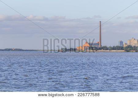 Gasometro And Guaiba Lake At Sunset, Porto Alegre
