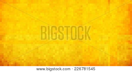 Yellow Abstract Grunge Background - Illustration,  Mosaic Grunge Background,  Squares Of Light And D