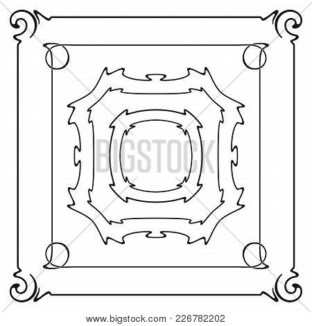 Vector Set Of Art Nouveau Frames For Print And Design.