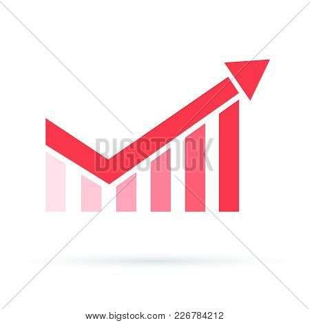 Growth Chart Icon. Increase Profit Chart Icon. Compound Interest Added Value, Financial Investments