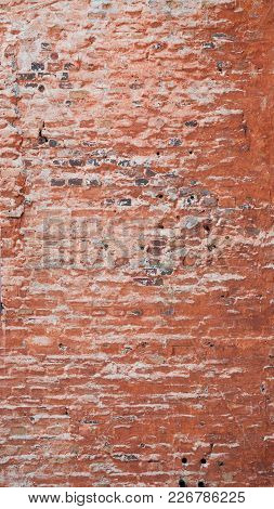 Old Worn Broken Brick Wall Texture Background
