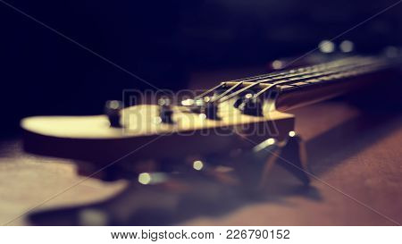 Guitar Fret In Soft Focus With Toning Effect
