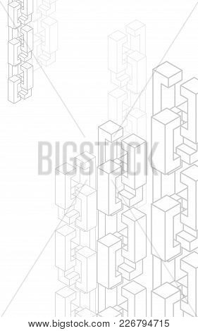 Blockchain Network Background For Presentations. Technology Block Chain Template For Design. Abstrac