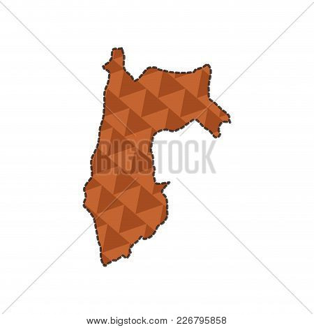 Dotted Line Map Of Venezuela. Vector Illustration Design