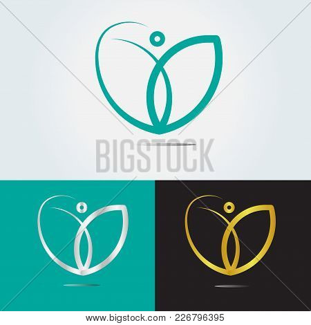 Coach Logo Design. Life Coaching, Combine Between Flour And Heart And Person .