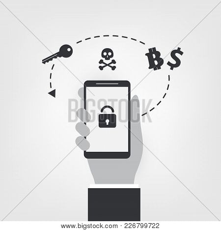 Locked Mobile Device, Valuable Business Data Lost, Ransomware Attack - Virus Infection, Malware, Fra