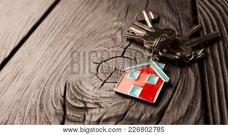 House Keys Close Up White Background Object Nobody