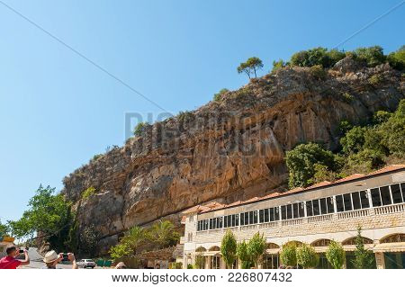 Jeita Grotto Cableway.ropeways Near Big Grotto In Lebanon.excursion In The Mountains. Beautiful Natu