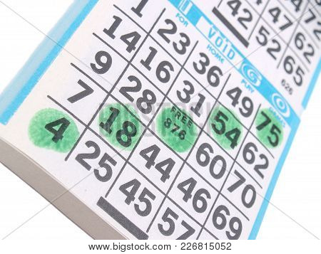 A Bingo Card Scorecard Background With Nobody.