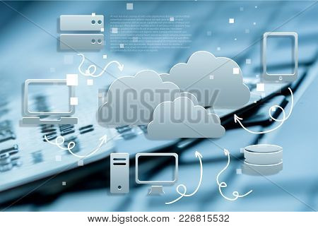 Cloud Concept Service Cloud Computing Cloud Storage Security Icon Cloud Technology
