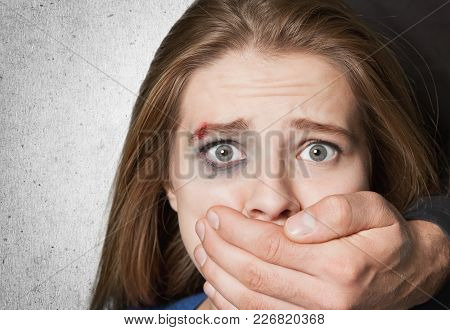 Woman Violence Victim Domestic Violence Beautiful Closeup Human