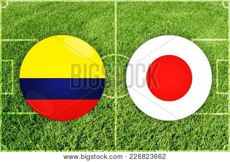 Illustration for Football match Colombia vs Japan