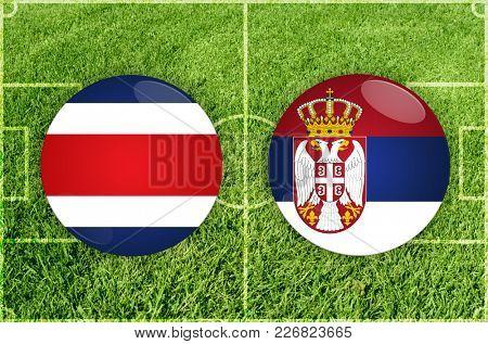 Illustration for Football match Costa Rica vs Serbia