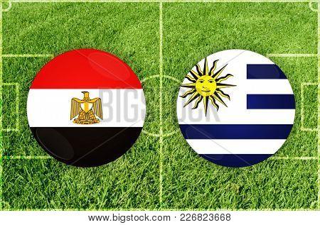 Illustration for Football match Egypt vs Uruguay
