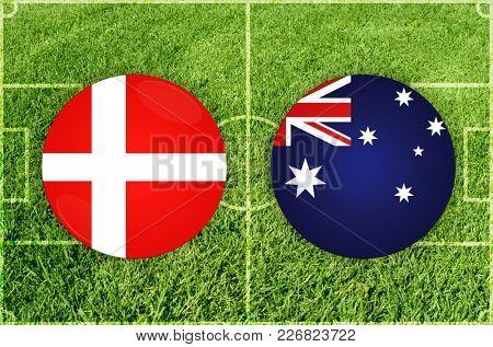 Illustration for Football match Denmark vs Australia