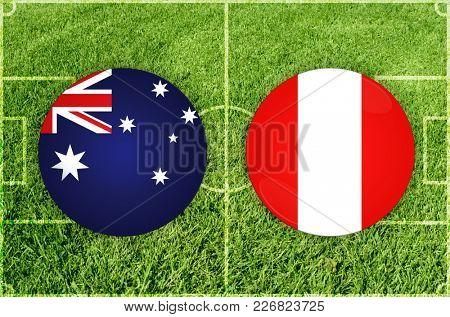 Illustration for Football match Australia vs Peru