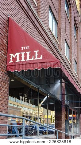 Nebraska, Usa - Aug 8, 2017: Frontage View Of The Mill Coffee And Tea Shop In The Haymarket District