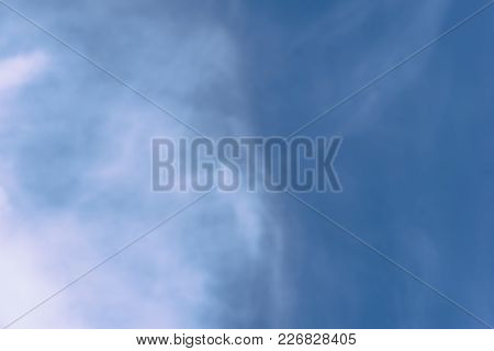 Blue Sky And White Clouds. Nature Abstraction In Retro Style