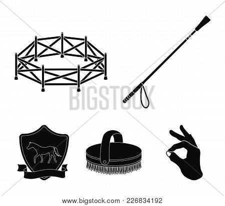 Aviary, Whip, Emblem, Hippodrome .hippodrome And Horse Set Collection Icons In Black Style Vector Sy