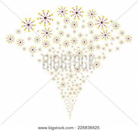 Expanse Exploding Fountain. Vector Illustration Style Is Flat Iconic Symbols. Object Fountain Create