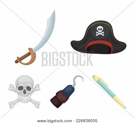 Pirate, Bandit, Cap, Hook .pirates Set Collection Icons In Cartoon Style Vector Symbol Stock Illustr